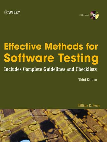 Effective Methods for Software Testing