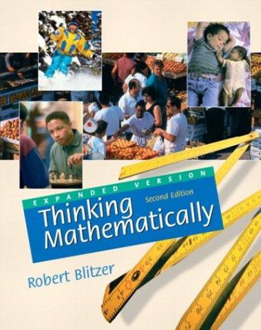Download Thinking Mathematically (Expanded 2nd Edition)