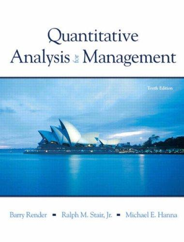 Download Quantitative Analysis for Management (10th Edition)