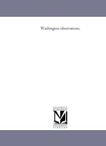 Washington observations.