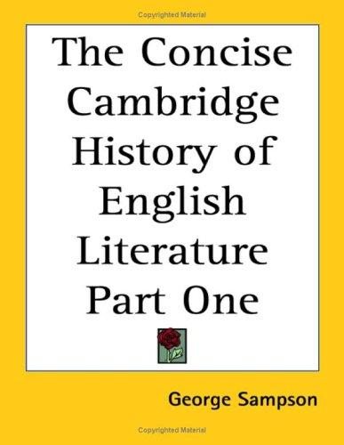 Download The Concise Cambridge History of English Literature