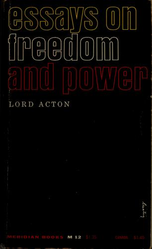 Download Essays on freedom and power