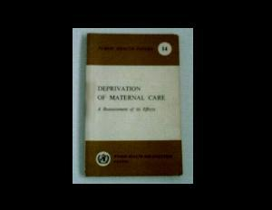 Download Deprivation of maternal care