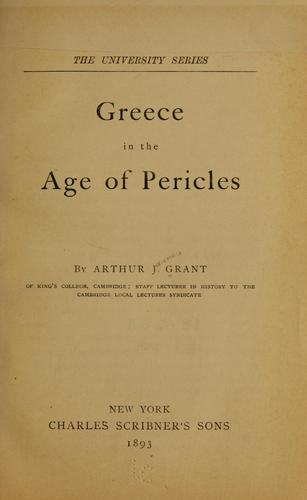 Download Greece in the age of Pericles