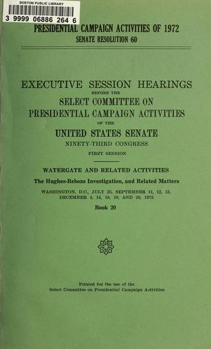 Download Presidential campaign activities of 1972, Senate resolution 60