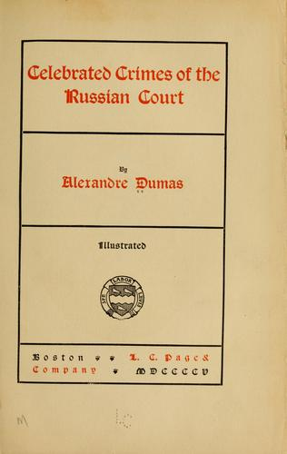 Download Celebrated crimes of the Russian court