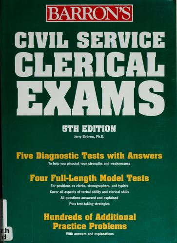 Download Barron's Civil Service clerical examinations