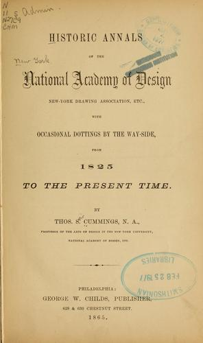 Download Historic annals of the National academy of design, New York drawing association, etc.
