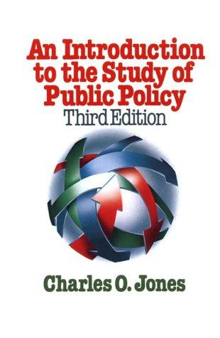 Download An introduction to the study of public policy