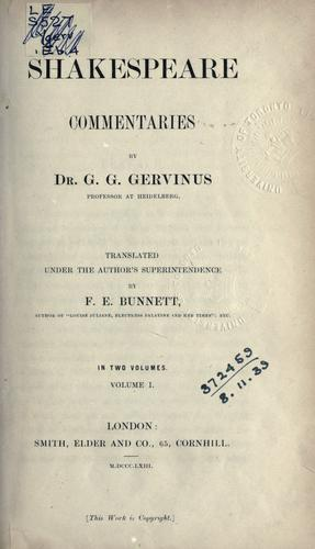 Download Shakespeare commentaries.
