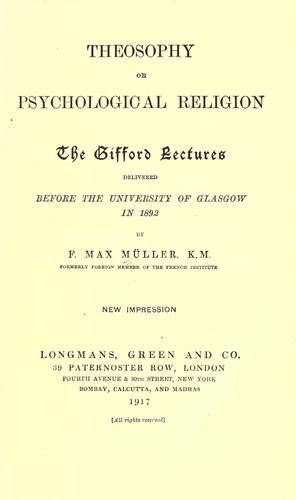 Download Theosophy, or, Psychological religion