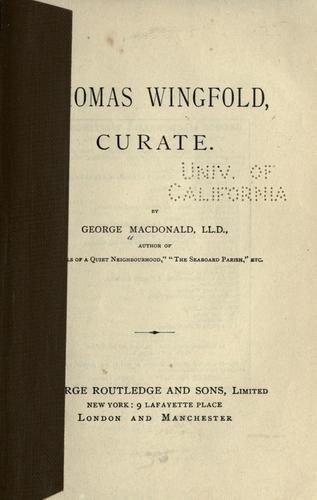 Download Thomas Wingfold, curate.