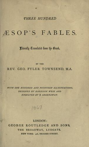 Download Three hundred Aesop's fables.