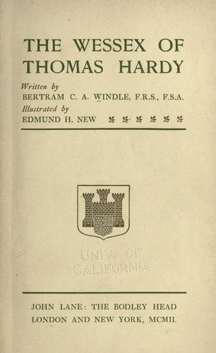 Download The Wessex of Thomas Hardy