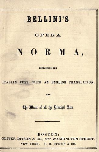 Download Bellini's opera Norma