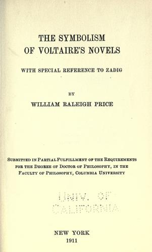 The symbolism of Voltaire's novels