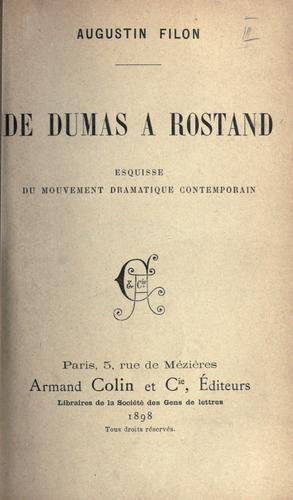 Download De Dumas à Rostand