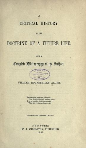 Download A critical history of the doctrine of a future life