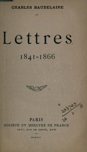 Lettres, 1841-1866.