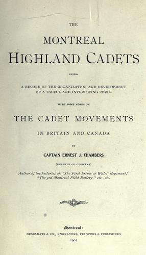 The Montreal Highland cadets