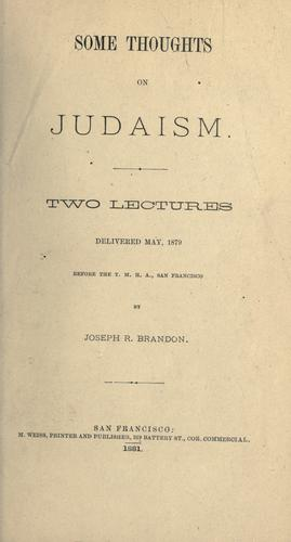 Download Some thoughts on Judaism.