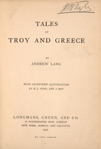 Download Tales of Troy and Greece