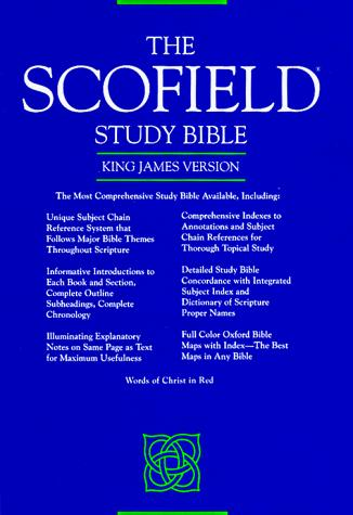 Scofield Study Bible by Oxford University Press.