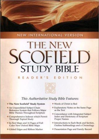 The NIV ScofieldRG Study Bible, Special Reader's Edition