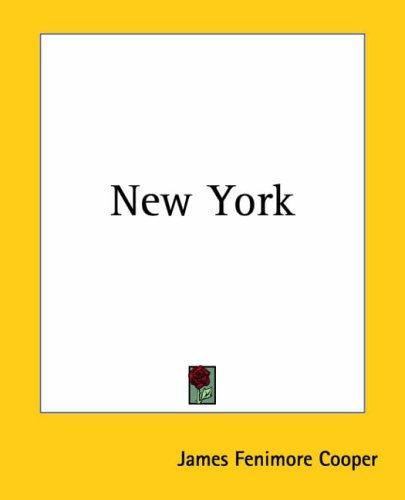 New York by James Fenimore Cooper
