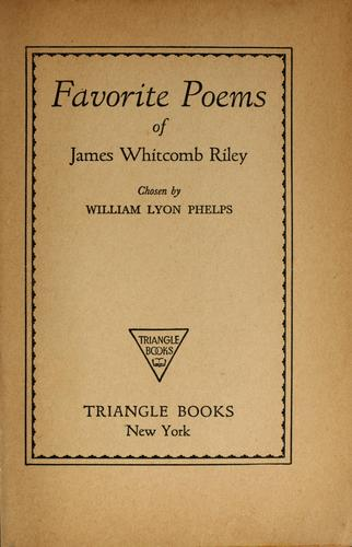 Favorite poems of James Whitcomb Riley by James Whitcomb Riley
