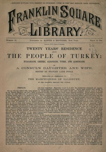 Twenty years' residence among the people of Turkey by Stanley Lane-Poole