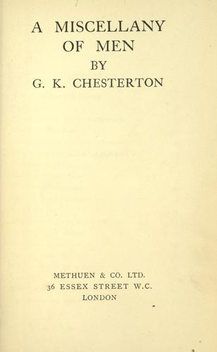 Essays by G. K. Chesterton